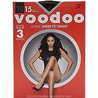 Voodoo Women's Pantyhose 15 Denier Shine Sheer To Waist Sheer Tights (3 Pack)