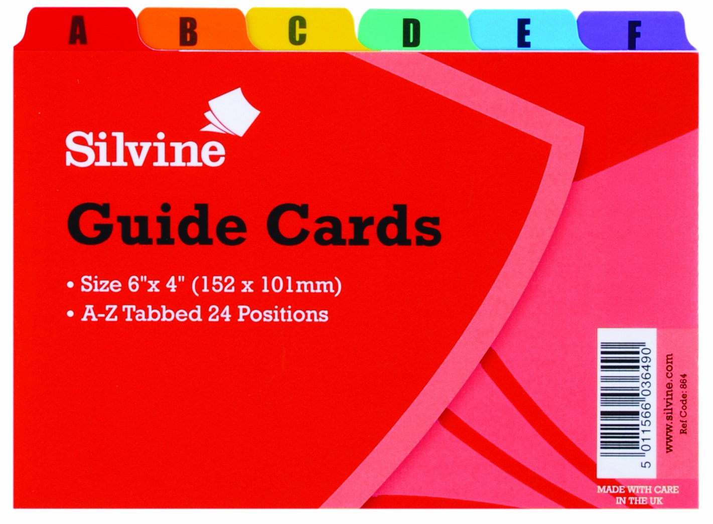 Silvine 6 x 4 inch Guide Cards: Amazon.co.uk: Office Products