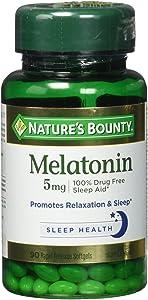 Nature's Bounty, Melatonin 5 mg Maximum Strength Soft gels, 90 ct