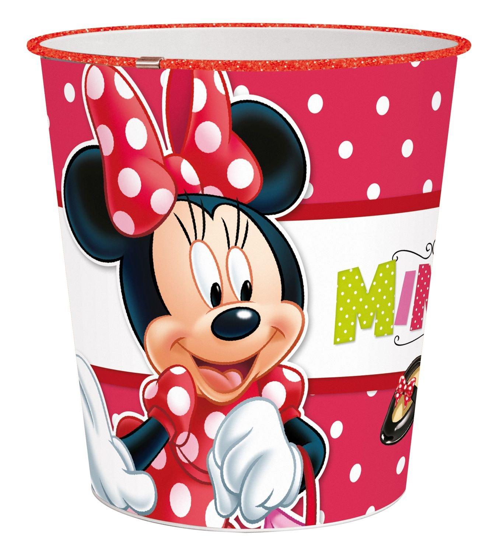 p:os 24681 Disney Minnie Mouse Papierkorb, ca. 22,6 x 21 cm, Kunststoff