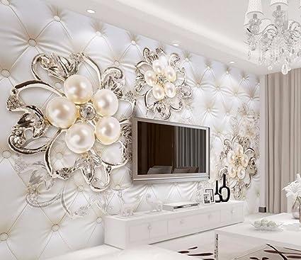 Malilove Europeo di Sfondo foto murale fiore stereoscopica in 3D ...
