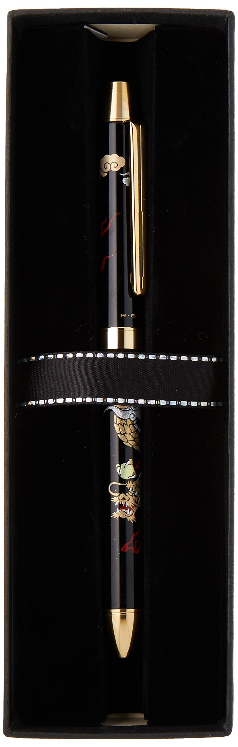 Pilot Mechanical Pencil, 0.5mm + Ballpoint Pen, 0.7mm, Fine, Black and Red, 2+1 Miyabi Emaki, Dragon (BTHM-5SR-R) by Pilot (Image #6)