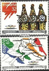 Prophila Collection España Michel.-No..: 2789-2790 (Completa.edición.) 1987 Olimpia-Nombramiento Barcelona (Sellos para los coleccionistas) Juegos Olímpicos: Amazon.es: Juguetes y juegos