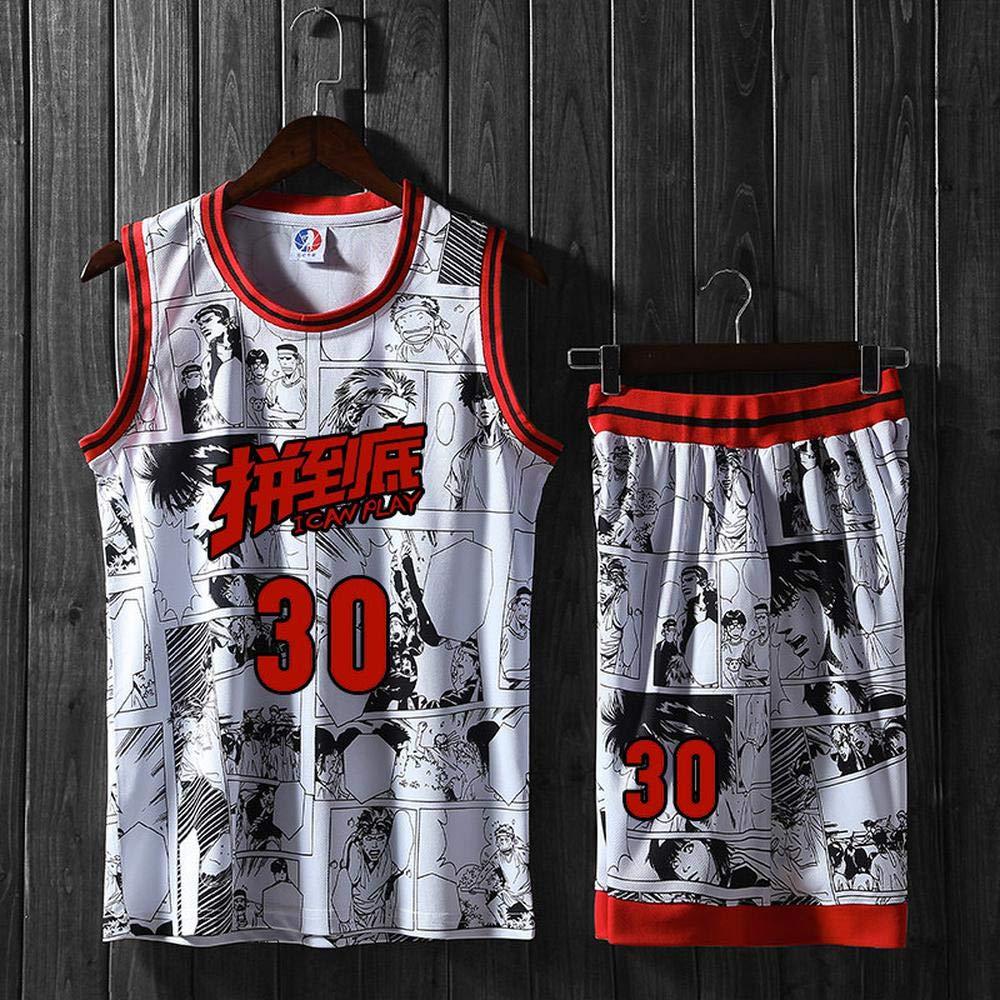LT NBA Abbigliamento Basket Nuova personalit/à Comic Wind Basketball Suit Suit Maschio Numero di Stampa Maglia da Basket Estiva Red-L Gruppo Jersey acquisto Personalizzato