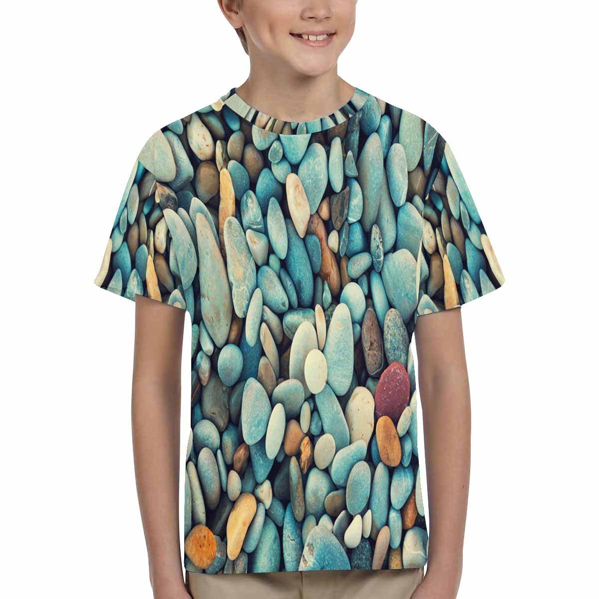 XS-XL INTERESTPRINT Kids T-Shirt Pebbles Background