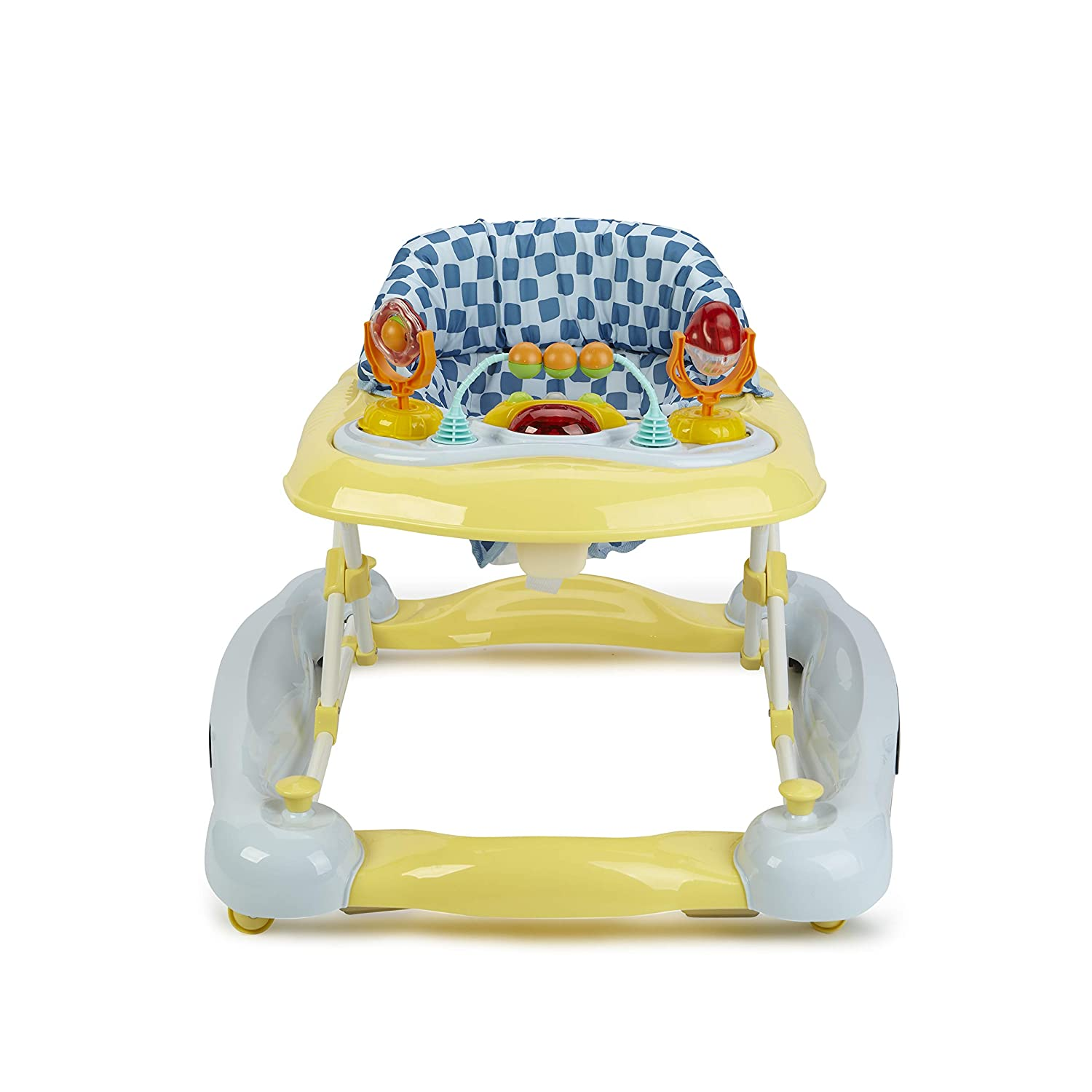 Black//Yellow//Bear Print Big Oshi 3 in 1 Baby Walker Adjustable Seat Convertible Walker to Rocker with Tray Table Baby Activity Center with Toys Rocker /& Activity Center on Wheels Boys