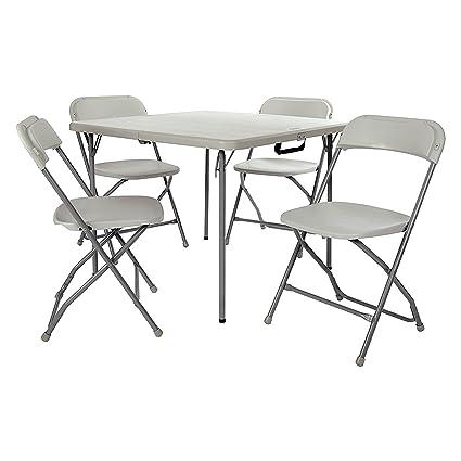 Amazon.com: Efd Juego de comedor mesa Bistro gris juego de 2 ...
