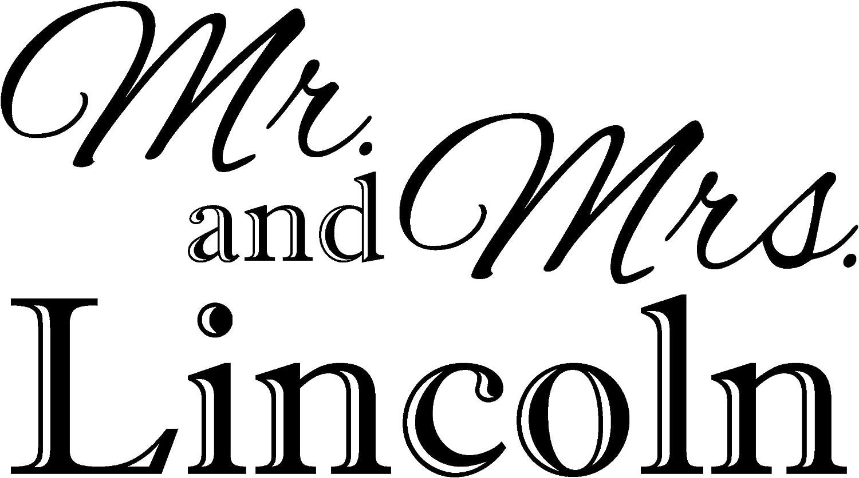ValueVinylArt Personalized Mr. & Mrs. Wedding/Anniversary Wall Decal- Black (36