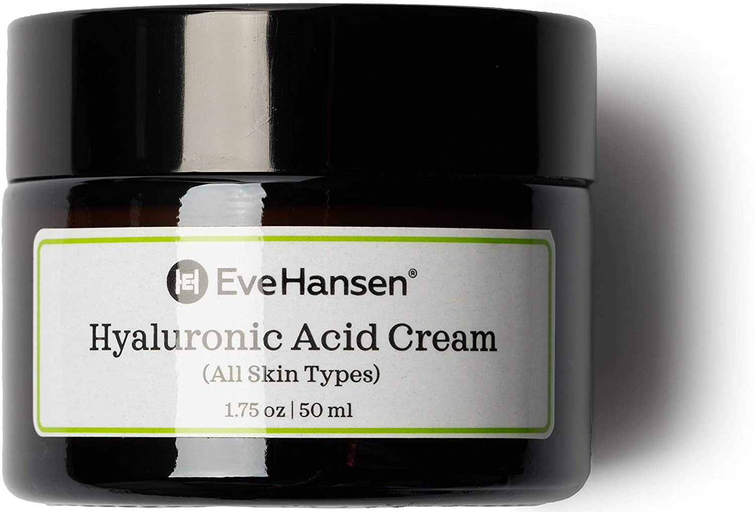 Hyaluronic Acid Cream by Eve Hansen - Hydrating, Anti Aging Cream for Younger and Plumper Skin - 1.75 Ounces