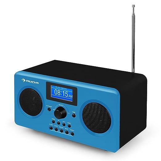 6 opinioni per Auna Quarz 150 internet radio AUX WiFi blu