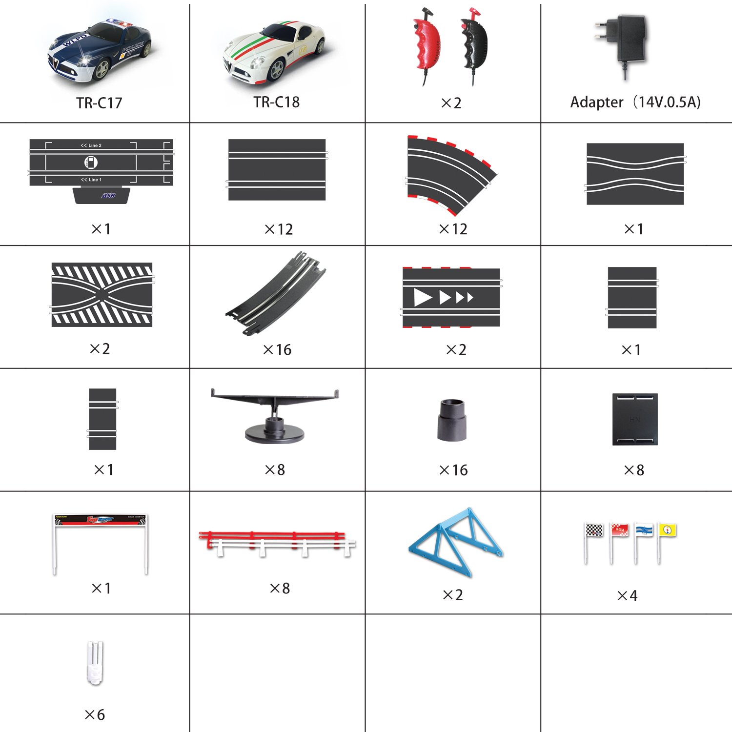 AGM slot car set with racing assistant APP No.ASR-01 1:43 scale by AGM (Image #7)