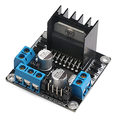 Drok 90433 L298N DC Driver Controller Stepper Motor Smart Car Board Module Arduino PIC, Dual H Bridge DC Motor Driver Controls & Indicators at amazon