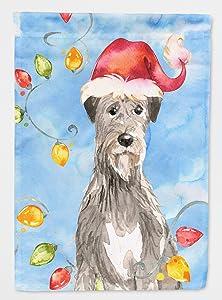Caroline's Treasures CK2481GF Christmas Lights Irish Wolfhound Flag Garden Size, Small, Multicolor