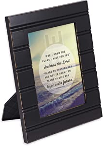Cottage Garden He Gives Me Hope Black Beaded Board 5 x 7 Table Top and Wall Photo Frame
