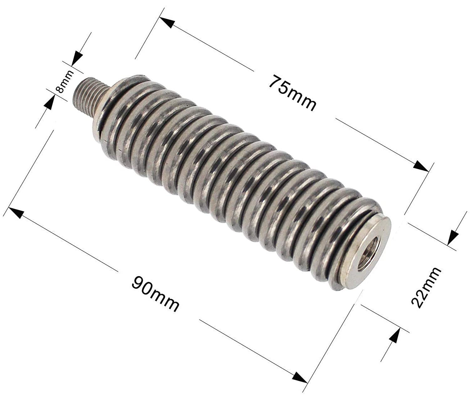 Marketty Antenna Spring SS-3H Heavy Duty Stainless Steel Antenna Spring,Works with Antennas up to 60 Long and Standard 3//8 x 24 Threads