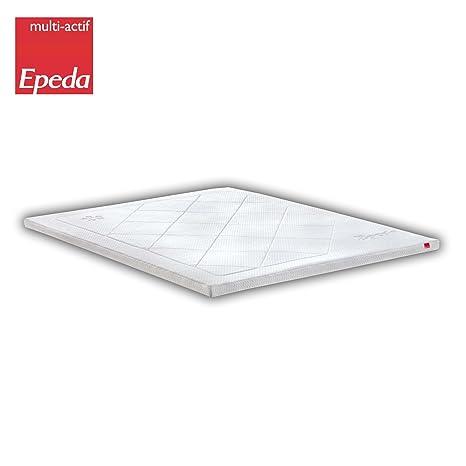 EPEDA Sur-matelas 80x200 - Coeur mousse a mémoire de forme 40kg/m³ -