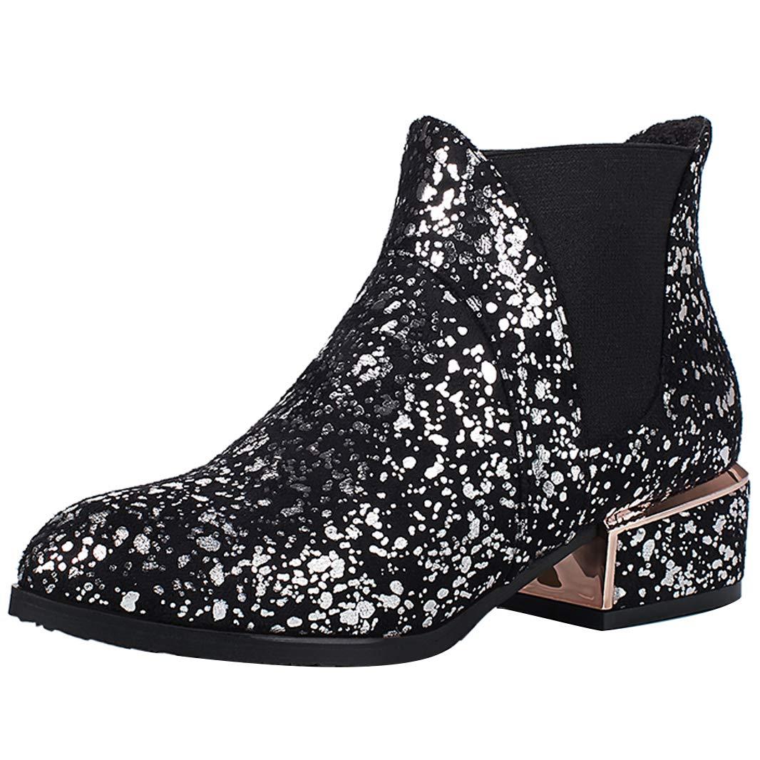 Mavirs Womens Malice Malice Womens Block Heel Ankle-high 5.5 cm Boots B07GJDWGGF Boots e77f56