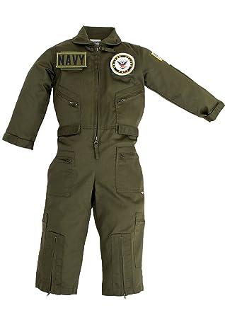 Amazon.com: Kids Militar réplica OD Verde Traje de piloto US ...