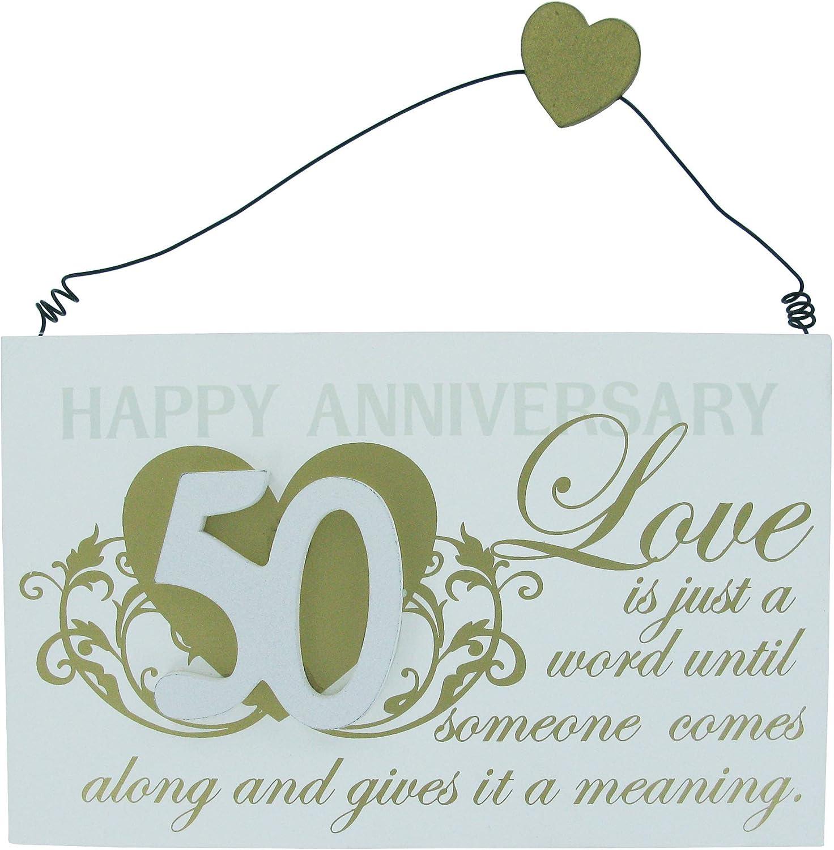 Frasi 50 Anni Di Matrimonio.Targa Regalo Per Anniversario 50 Anni Di Matrimonio Con Frase Ricordo In Lingua Inglese Amazon It Casa E Cucina
