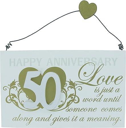 Frasi Per Anniversario 50 Anni Di Matrimonio.Targa Regalo Per Anniversario 50 Anni Di Matrimonio Con Frase