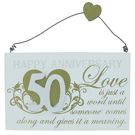 Frasi Matrimonio 50.Targa Regalo Per Anniversario 50 Anni Di Matrimonio Con Frase
