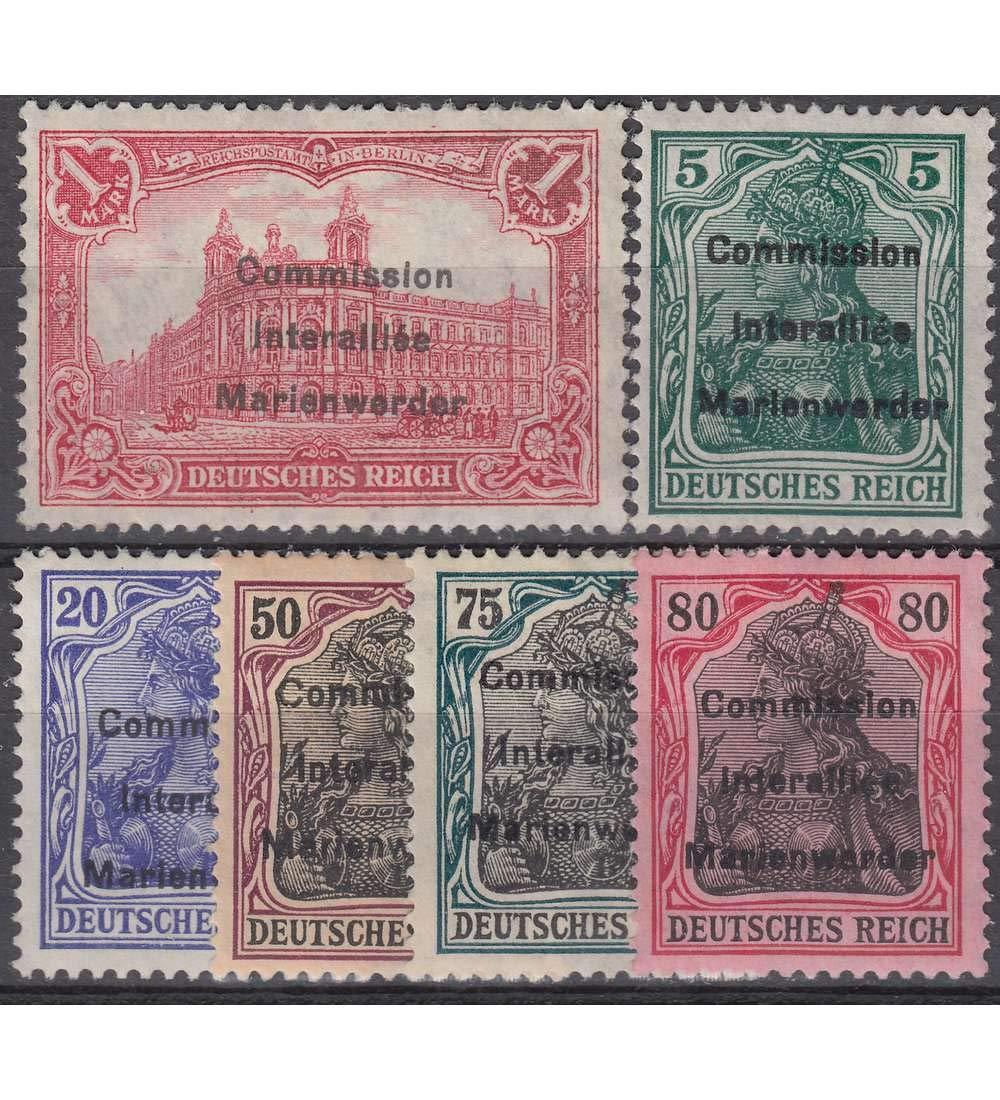 Goldhahn Marienwerder Nr. Nr. Nr. 15-20 Briefmarken für Sammler c76712