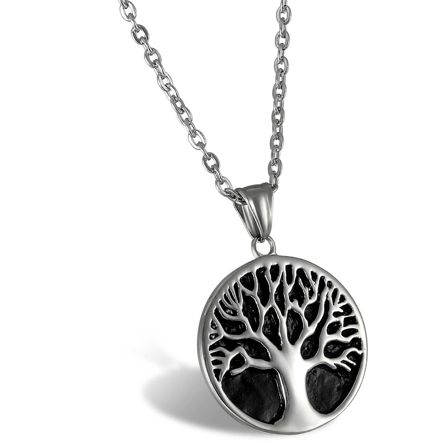 """VALENTINES GIFT Tree Of Life Locket Pendant Necklace FREE ENGRAVING  16/""""  30/"""""""
