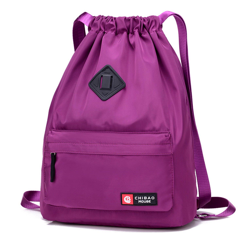 Waterproof Drawstring Bag, Gym Bag Sackpack Sports Backpack for Men Women Girls IVIM