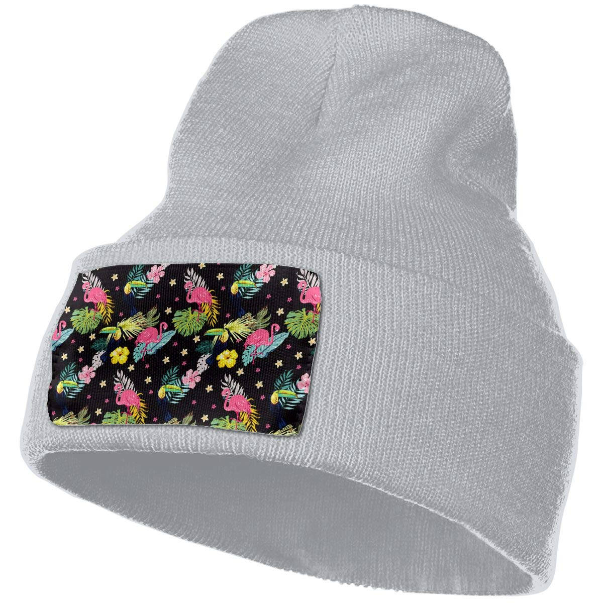 The Bird of The Tongue and Flamingos Unisex Fashion Knitted Hat Luxury Hip-Hop Cap