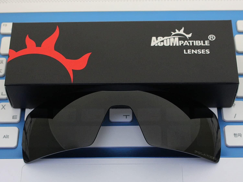 acompatible Ersatz Lenses für Oakley Sonnenbrille Gascan (nicht fit Gascan S), Fire Red Mirror - Polarized