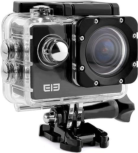 Cámara Deportiva 4k con Wifi Impermeable 16MP 1080P 64GB Elephone ELE CAM Explorer Lentes de 170 Grados Amplios H.264 HDMI Vídio Super-HD con LCD de 2.0 Pulgadas para Correr, Ciclismo, Nadar: Amazon.es: