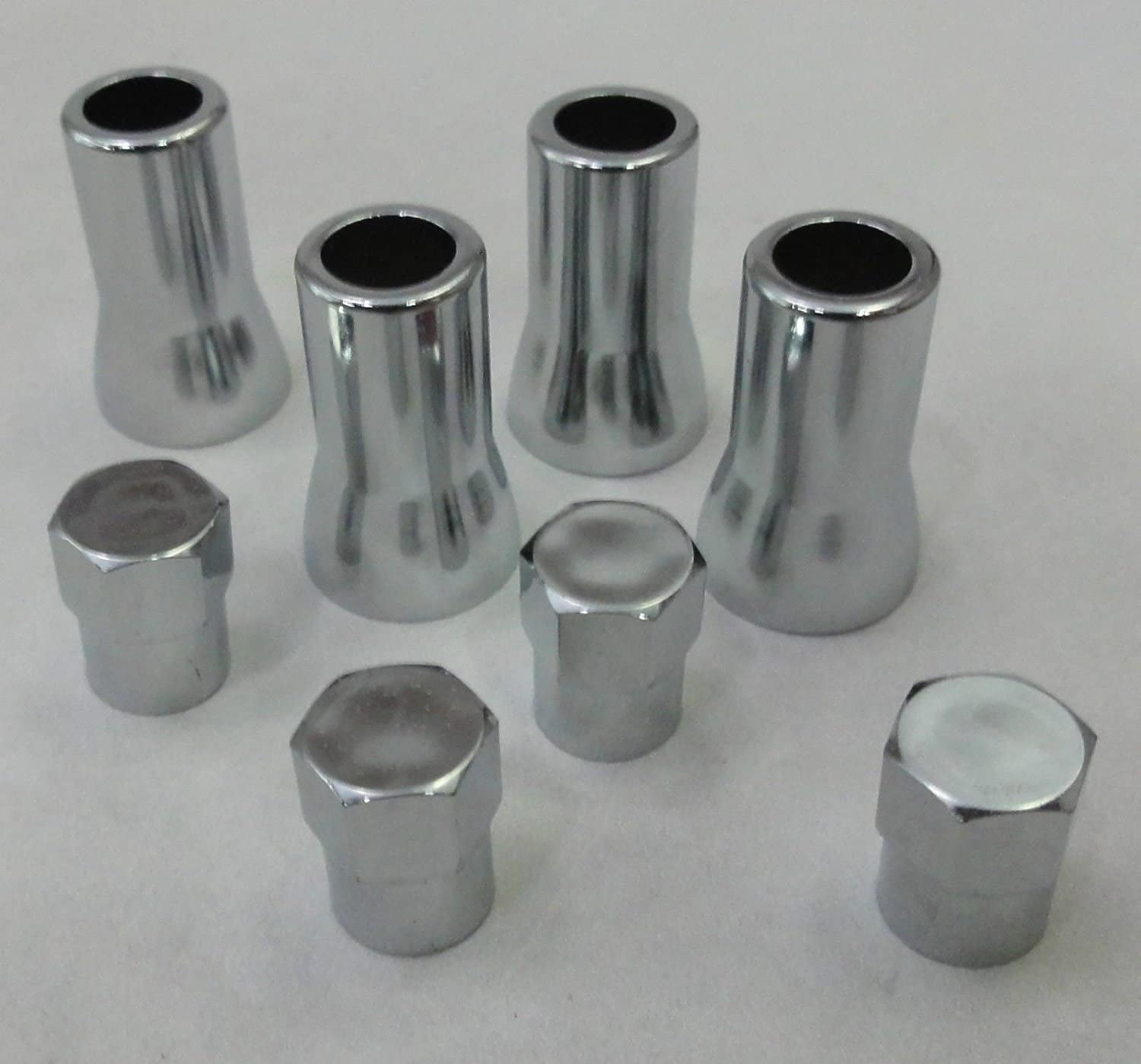 4* Tpms Tire Valve Stem Cap With Sleeve Cover Chrome For American Car Truck