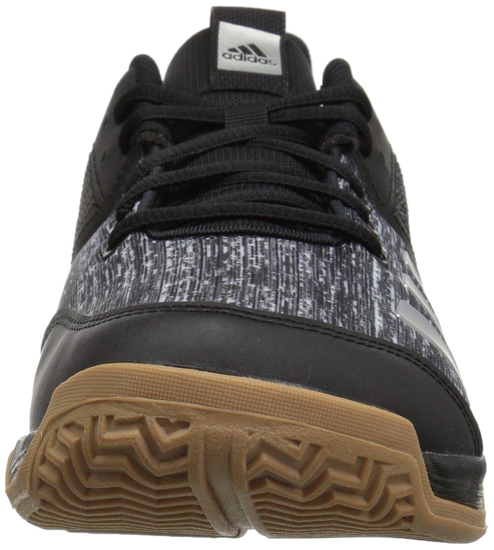 adidas Women's Ligra 6 Volleyball Shoe, Black/Silver Metallic/White, 7 M US by adidas (Image #4)