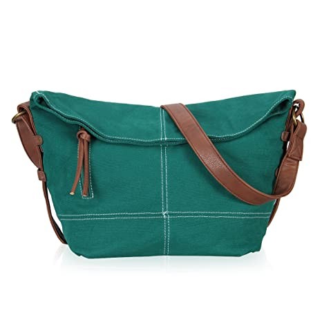 dd992a0534 Hynes Eagle Casual Canvas Crossbody Messenger Purse Bag for Women Girls  Satchel Hobo Handbags Green  Amazon.ca  Luggage   Bags