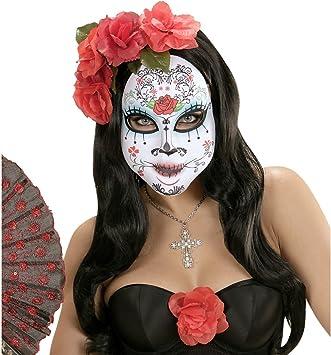 NET TOYS Máscara Día de los Muertos Sugar Skull Antifaz Halloween ...