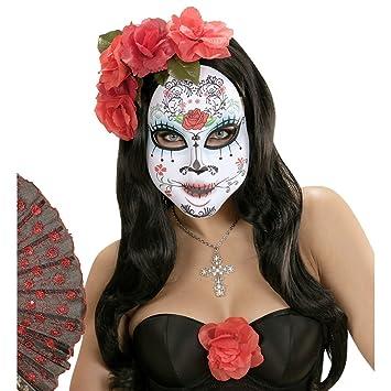 Máscara Día de los muertos Sugar Skull antifaz Halloween Cubre rostro La Catrina Careta día de