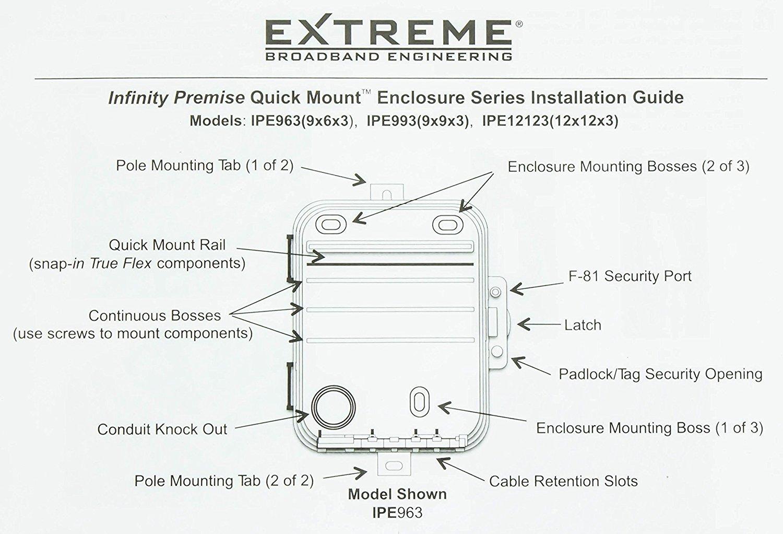 Extreme Broadband Heavy Duty Weather Proof Multi Purpose Enclosure 9 x 9 x 4 (Interior approx. 8 x 8 x 3-1/2)