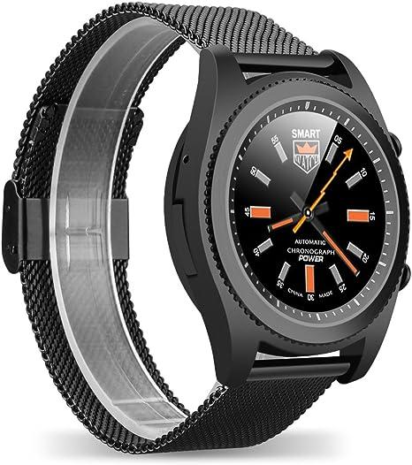 DT NO.I S9 Bluetooth 4.0 NFC Smartwatch Monitor de Frecuencia ...