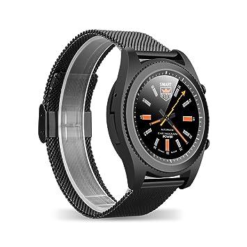 DT NO.I S9 Bluetooth 4.0 NFC Smartwatch Monitor de Frecuencia Cardiaca DIY Watchface Llamado Mensaje Recordatorio Pedometer Sedentario Monitor de ...