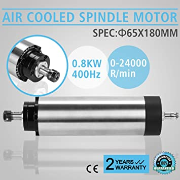 FurMune Spindelmotor Air cooled Motor 0,8KW ER11 Air Spindel luftk/ühlbar MOTOR Antrieb 0.8kw Air Cooled