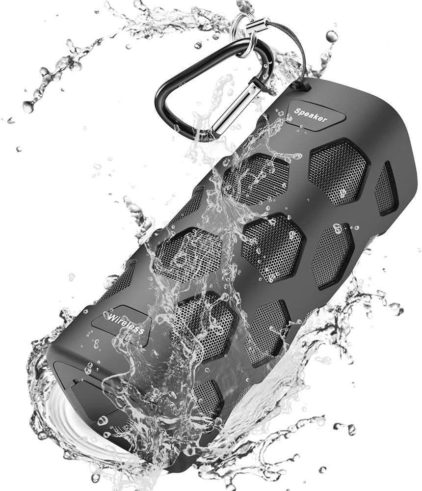 Motast Altavoz Bluetooth Portatiles, 20W Altavoces Bluetooth con 24 Horas de Reproducción Continua, IP56 Impermeable, TWS HD Estéreo Micrófono, Llamadas Manos Libres, para el Hogar, Aire Libre, Viajes