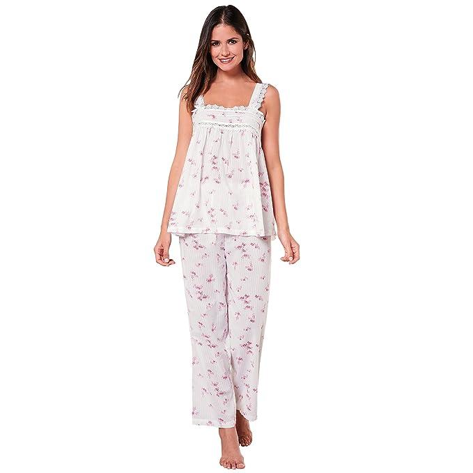 VENCA Pijama Camiseta de Anchos Tirantes con jaretas y Encaje en el Delantero by Vencastyle: Amazon.es: Ropa y accesorios