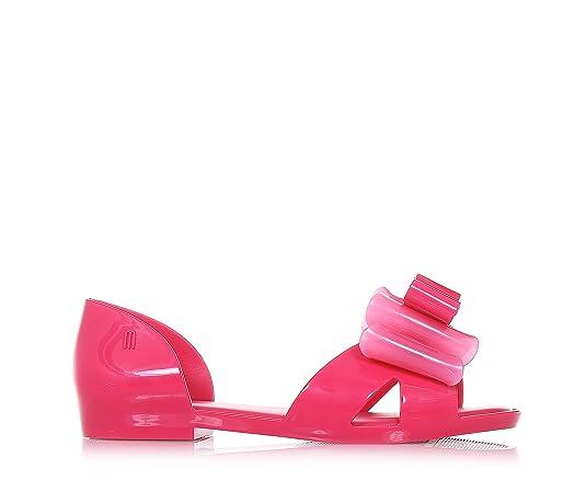 Pink Sandale Seduction II, made in Brazil, ganz aus MELFLEX-Kunststoff, einem duftenden, Mädchen, Damen-38 Mini Melissa
