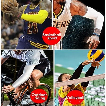Protección UV para manga de brazo, Manga de brazo Manga elástica y funda de respiración, Manguitos de protección para el brazo en deporte - Negro, L