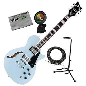 Esp xps1sob Ltd X tono PS 1 Sonic azul eléctrico guitarra w/soporte, sintonizador, geartree, gamuza y cable: Amazon.es: Instrumentos musicales
