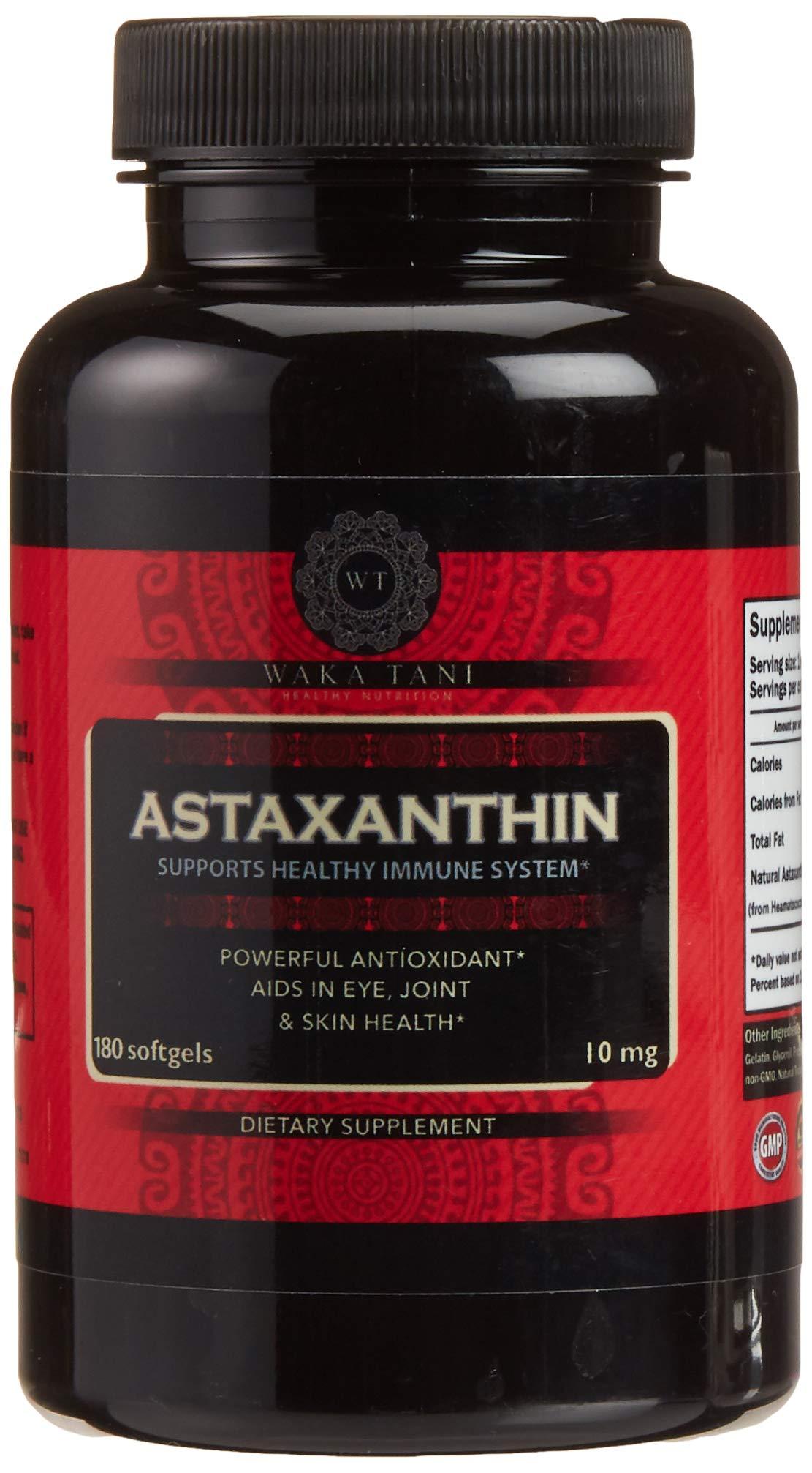 Astaxanthin 10mg 180 Softgels. Powerful Antioxidant & Anti-inflammatory Keto Carotenoid. Natural Algae Supplement. Recommended for: Skin, Joint, Brain, Eye, Cardiovascular & Immune System.