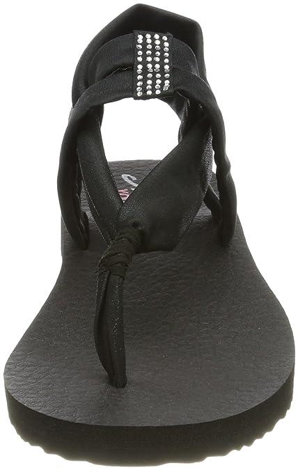Skechers Damen Meditation Disco Sandalen, schwarz