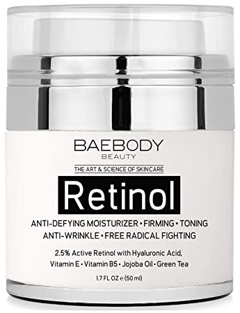 Baebody Retinol Moisturizer Cream for Face and Eye Area - Wi...