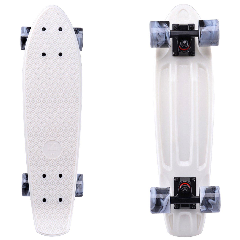 Playshion Complete 22'' Mini Cruiser Skateboard Beginner Sturdy Deck