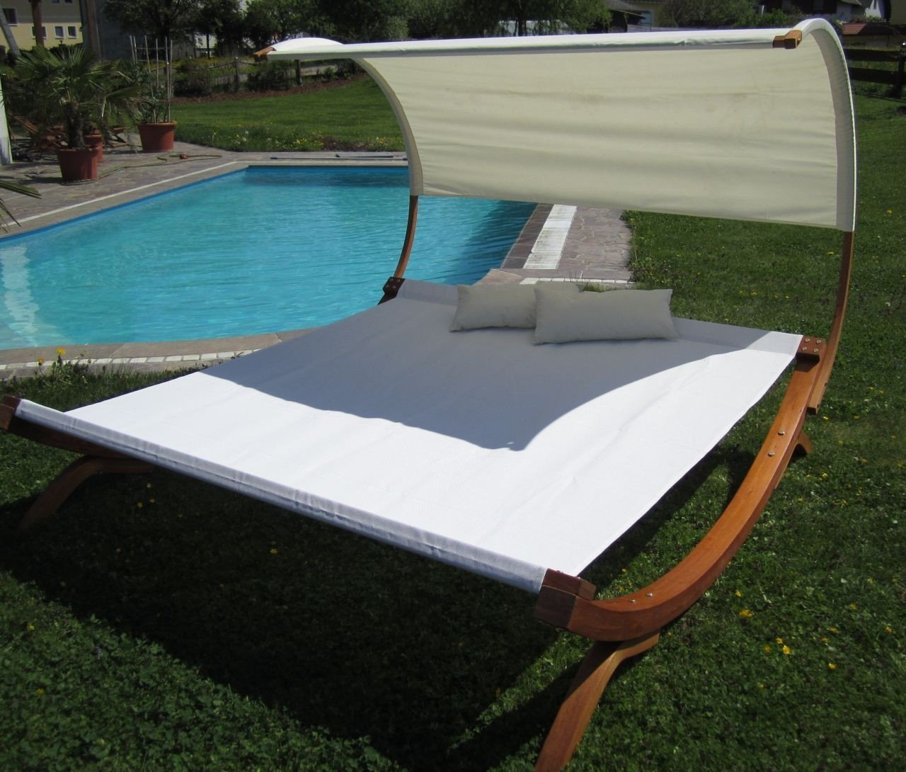 gartenliege holz doppel. Black Bedroom Furniture Sets. Home Design Ideas